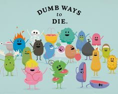 Dumb Ways To Die - Characters - Official Mini Poster. Official Merchandise. FREE SHIPPING