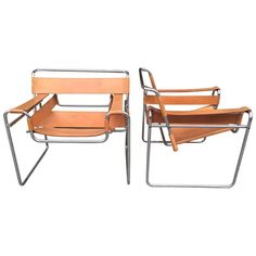 Pair of Marcel Breuer Wassily Chairs for Knoll | From a unique collection of antique and modern lounge chairs at https://www.1stdibs.com/furniture/seating/lounge-chairs/