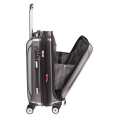 "Delsey Luggage Helium Aero International Carry On Expandable Spinner Trolley (19"")"