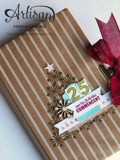 Art book for Christmas - Stampin' Up! Cheerfuls tags - Hélène LEGRAND - Stamp 2 LiNotte