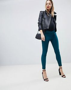 Buy ASOS DESIGN Maternity high waist trousers in skinny fit at ASOS. With free delivery and return options (Ts&Cs apply), online shopping has never been so easy. Get the latest trends with ASOS now. Asos Maternity, Maternity Fashion, Moda Fitness, Office Outfits, Trousers, Pants, Skinny Fit, Fitness Fashion, Lifestyle Blog