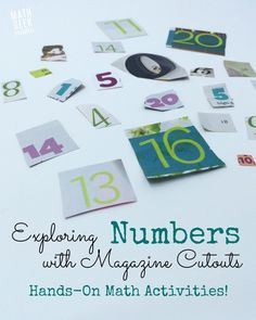 Exploring numbers with magazine cutouts is a great, hands-on way for kids to play with numbers and make new discoveries. Tons of ideas to explore!