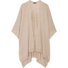The Row Hern cashmere and silk cape (€1.455) ❤ liked on Polyvore featuring outerwear, jackets, long cape coat, long cape, cape coat and cashmere capes