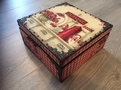 Kitchen box decoupage tea box vintage retro box by TheSlavicSpirit