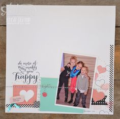 start the year with a scrapbook page to remind you to do the things you love in 2015! - krista frattin