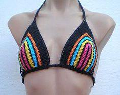 Crochet Bikini Sexy Lace Swimwear Beige Irish by GalinaHandmade