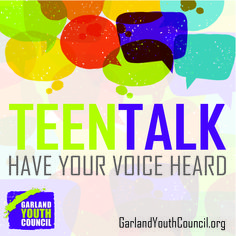 #Garlandtx teens are invited to learn how City government affects their lives, provide insight on what they like best about Garland, and share where they see opportunities for improvement. The Garland Youth Council will host Teen Talk from 9 a.m. to 1 p.m. Saturday, April 16, at the Duckworth Building, 217 N. Fifth St. This free event is open to youth in grades 9-12. Interested teens may register by sending their name, school and grade to GYC@GarlandTx.gov. Details at…