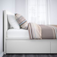 MALM High bed storage boxes - white, Luröy - IKEA - You are in the right place about hotel bedroom Here we offer you the most beautiful pictures about - High Bed Frame, Malm Bed Frame, Bed Frames, Ikea Storage, Storage Boxes, Storage Spaces, Record Storage, Bed Frame With Storage, Under Bed Storage