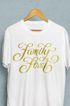 Family First hand-lettering, by Björn Berglund Creative Studio, www.bjornberglund.com.
