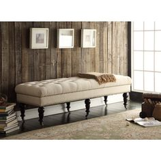 62-inch Isabelle Bed Bench | Overstock™ Shopping - Great Deals on Linon Benches