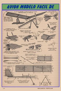 www.eltallerderolando.com 2013 01 15 avion-modelo-facil-de-construir-octubre-1949 avion-modelo-facil-de-construir-octubre-1949-001b-copia Airplane Mobile, Balsa Wood Models, Pull Wagon, Flight Lessons, Airplane Crafts, Wood Games, Vintage Airplanes, Paper Plane, Mechanical Design