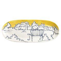 Appunti di Viaggio Large Yellow Platter