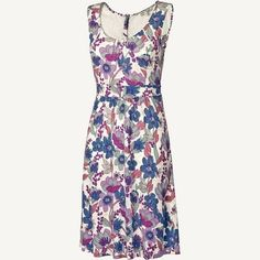 Robyn Lace Back Breezy Floral Dress at Fat Face