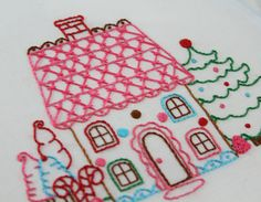 Gingerbread Embroidery Pattern Packet by bigBgsd on Etsy, $3.00