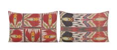 Pair of Yastik Isolabella Ikat Cushions by Rifat Ozbek | From a unique collection of antique and modern pillows and throws at https://www.1stdibs.com/furniture/more-furniture-collectibles/pillows-throws/