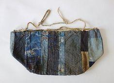 Japanese Antique Textile Cotton Kome-bukuro Rice bag