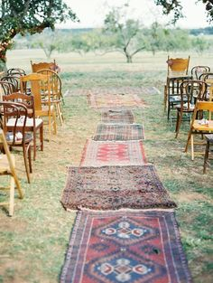 Bohemian Texas Wedding with Fall Foliage - MODwedding