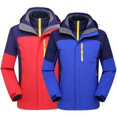 122.83$  Know more - http://ai06y.worlditems.win/all/product.php?id=32763482659 - Outdoor 3 in 1 Jackets Duck Down Coat Men Outdoor Hiking Camping jacket Men Softshell Jacket Waterproof Windproof  Hiking Jacket