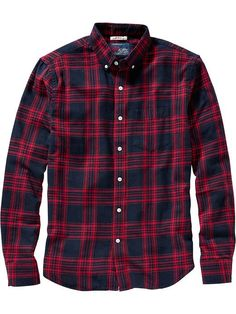 Men's Slim-Fit Patterned Flannel Shirts Product Image