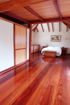Wide Jarrah overlay flooring #timberflooring