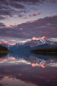 Moraine Sunset - Alberta, Canada