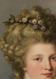 Portrait of Sarah Harrop (Mrs. Bates) as a Muse by Angelica Kauffmann, c. 1780-1781 (detail)
