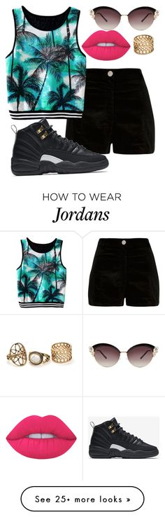 """GMG Palm's"" by stay-true-loyal on Polyvore featuring River Island, NIKE and Lime Crime"