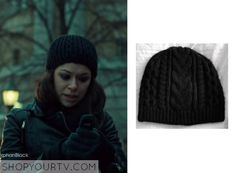Orphan Black: Season 3 Episode 9 Sarah's Black Knit Beanie