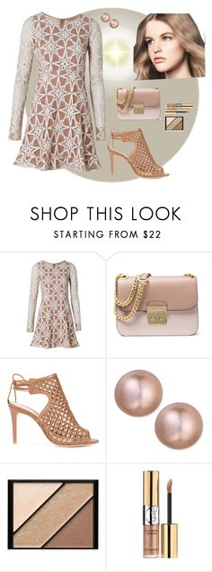 """""""Naturally Complementary"""" by kaylyn-80864 ❤ liked on Polyvore featuring For Love & Lemons, MICHAEL Michael Kors, Alexandre Birman, Belpearl, DUO and Elizabeth Arden"""