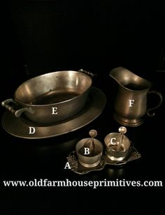 #PEWT6 Primitive Colonial Pewter (Made In USA)