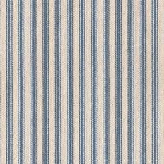 James Thompson House Designer - Ticking Woven Stripes - Ticking Woven Stripes in Denim Blue