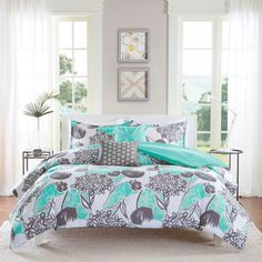 Intelligent Design Lily Comforter Set ($90) ❤ liked on Polyvore featuring home, bed & bath, bedding, comforters, x long twin comforter sets, floral bedding, intelligent design comforter, twin bedding and floral comforters