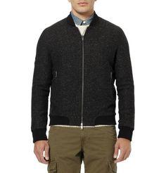 Lot78Wool-Blend Tweed Bomber Jacket