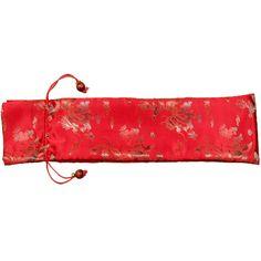 Protective Silk Mahjong Rack and Pusher Bag - Red