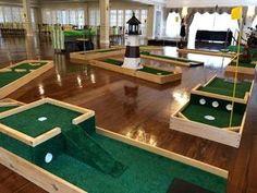 Backyard Play, Backyard For Kids, Backyard Games, Outdoor Games, Long Island, Backyard Putting Green, Putt Putt Golf, Diy Yard Games, Crazy Golf
