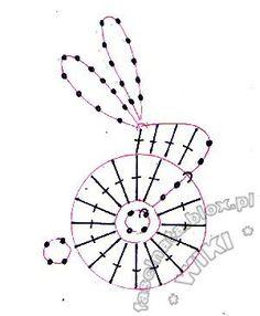 Mesmerizing Crochet an Amigurumi Rabbit Ideas. Lovely Crochet an Amigurumi Rabbit Ideas. Easter Crochet Patterns, Crochet Motifs, Crochet Diagram, Crochet Chart, Crochet Appliques, Knitting Patterns, Crochet Animals, Crochet Toys, Knit Crochet