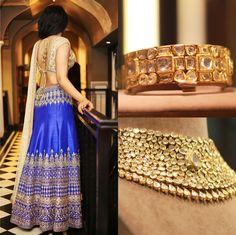 #AnitaDongre #lehenga #jewellery #WeddingInspiration #gotapatti #Rajasthan #Jaipur #Bride #bridal #Pinkcity #diamonds #necklace #bracelet #wedding #bejellewed #ClassicBride