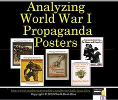 """Your students will be engaged with this common core-aligned activity. Students will work in pairs to analyze 8 propaganda posters from World War I. The posters are from several different countries (The U.S. , France, Britain, Germany, Russia and Austria-Hungary). A power point introduction to propaganda and """"Total War"""" is included. World History Lesson Plans"""