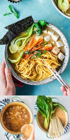 This easy vegan ramen recipe only needs 1 pot and common ingredients. It has no dairy, no fish and no dashi but is packed with flavour. You won't be missing out on anything! Ramen Recipes, Healthy Soup Recipes, Delicious Vegan Recipes, Healthy Meal Prep, Dinner Recipes, Vegan Ramen, Vegan Soup, Vegan Dinners, Lunches And Dinners
