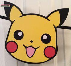 Bandera fiesta personalizada Pokemon Pikachu por Flair4Paper