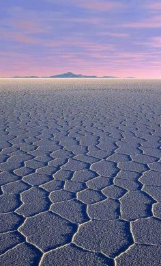 Salar De Uyuni (Uyuni Salt Lake), Bolivia. Love those shapes on the salt crust!