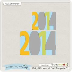 Daily Life Journal Card Template. 2014. *