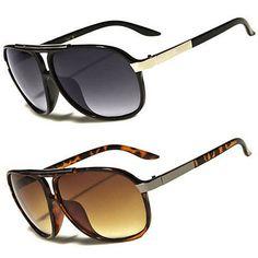 33933ca81b0 80s Mens Womens Retro Vintage Classic Fashion Designer Aviator Sunglasses  Black