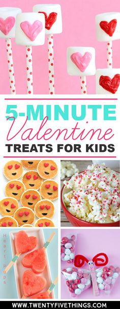 These easy Valentine's Day treats for kids are just right when you're out of time. Make these for classroom Valentine's Day parties or just a special surprise for the kids. #ValentinesDay