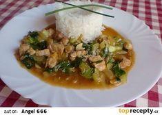 Vepřové nudličky s pak choi recept - TopRecepty. Pak Choi, Risotto, Grains, Ethnic Recipes, Food, Essen, Yemek, Meals