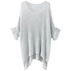 Karen Oversize Jumper (36 SGD) ❤ liked on Polyvore featuring tops, sweaters, oversized tops, oversized jumper, jumpers sweaters, over sized sweaters and oversized sweater
