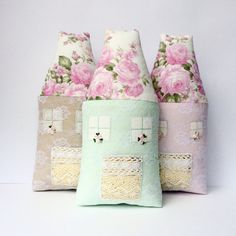 Mint Pink nursery toy Fairy House toy, pillow by CherryGardenDolls #house toy #plush house #nursery