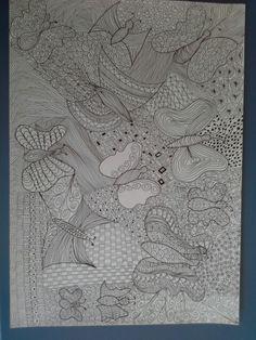 Zentangel Schmetterling