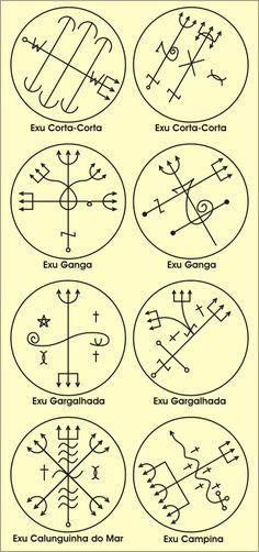Entidades Ciganas da Umbanda (Clique Aqui) para entrar.: PONTO RISCADO DE EXU