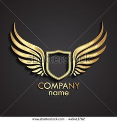 Find Winged Shield Golden Logo Vector stock images in HD and millions of other royalty-free stock photos, illustrations and vectors in the Shutterstock collection. Graphic Design Typography, Branding Design, Logistics Logo, Barber Logo, Stylish Letters, Security Logo, Golden Logo, Wings Logo, Wings Design